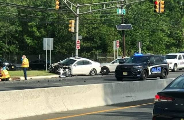 The crash closed southbound Route 23 at Ratzer Road in Wayne.