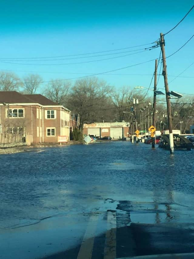 Bogota Police are cautioning drivers to avoid flooded areas.