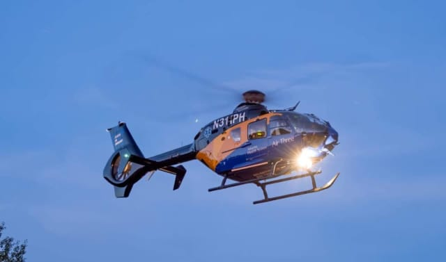 Three people were airlifted after they were involved in a head-on crash in Sussex County over the weekend, state police said.