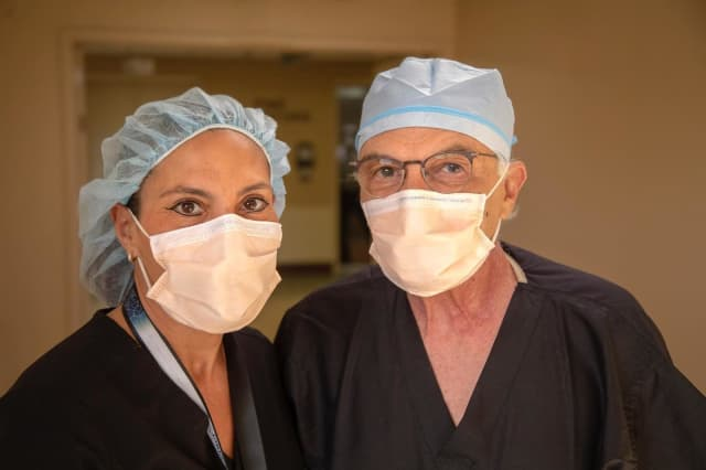 Holy Name Health nurse Laura Elia and Chief of Thoracic Surgery Dr. Ignatios Zairis performed high-risk procedures on many critically ill COVID-19 patients to help save their lives.