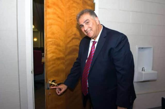 Dominick Tarquinio and his classroom lock.