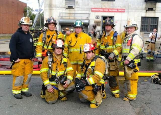 Members of the Skyline Lake Fire Department from Ringwood.