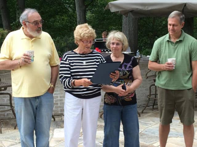 Franklin Lakes emergency management volunteers are honored in 2014.