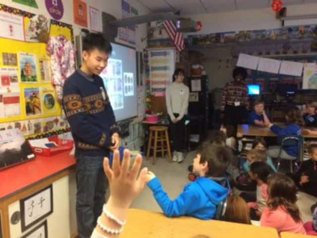 Visitors from China helped students from Bronxville Elementary School learn about other cultures.