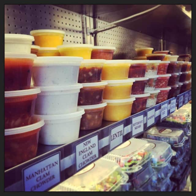 Mountain View Deli does a big soups to go business.