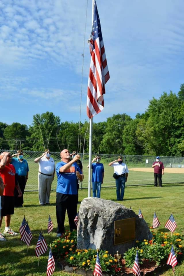 The American Flag that was desecrated in the Town of Poughkeepsie has been replaced.