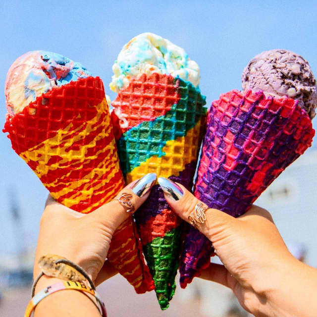 Colorful cones from Coney Waffle in Long Branch.