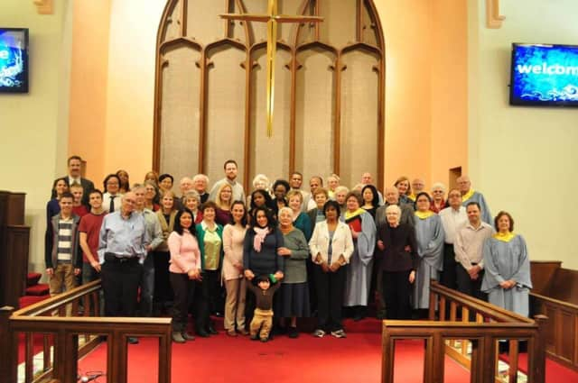 Members of the congregation at Leonia United Methodist Church.