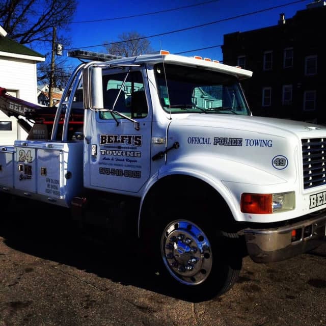 Hasbrouck Heights uses Belfi's Towing as a towing service provider, NorthJersey.com says.