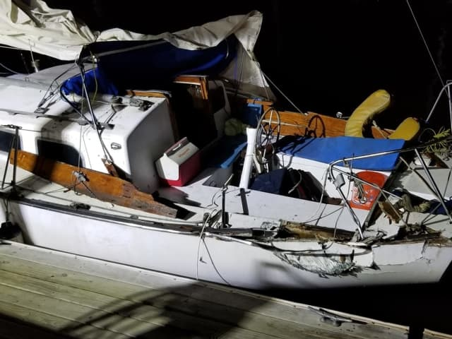 An allegedly drunk Northern Westchester boater crashed into a sailboat.