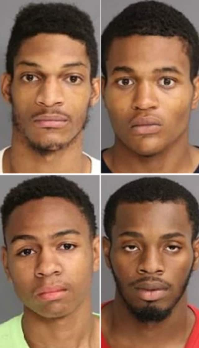 CLOCKWISE (from top left): Muhammad Merrill, Layquan Davis, Dante Jones, Kevon Wright, all of Newark.