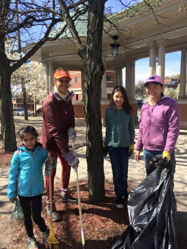 Members of Rutherford's Green Team plant a tree. The borough is looking at expanding the tree committee into a commission in order to provide it with more power to protect the area's trees.