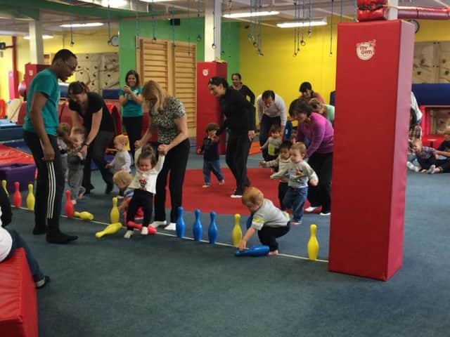 Drop the kids off at camp and hit the malls! The Little Gym has a half-day kids' camp on President's Day.