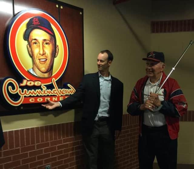 Cunningham Corner at the  St. Louis Cardinals stadium was dedicated to baseball great Joseph Robert Cunningham Jr. of Paterson and Saddle Brook.