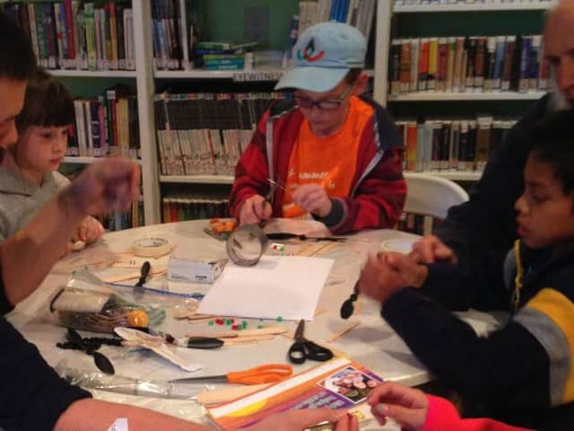 Make Masks In Kids' Program At Red Hook Library.
