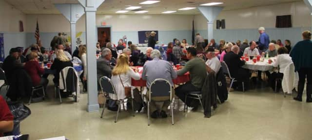 Guests fill the Pompton Lakes VFW building for the veterans dinner in 2015.