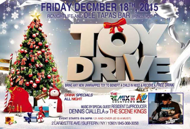Ole Tapas Bar will hold a toy drive.