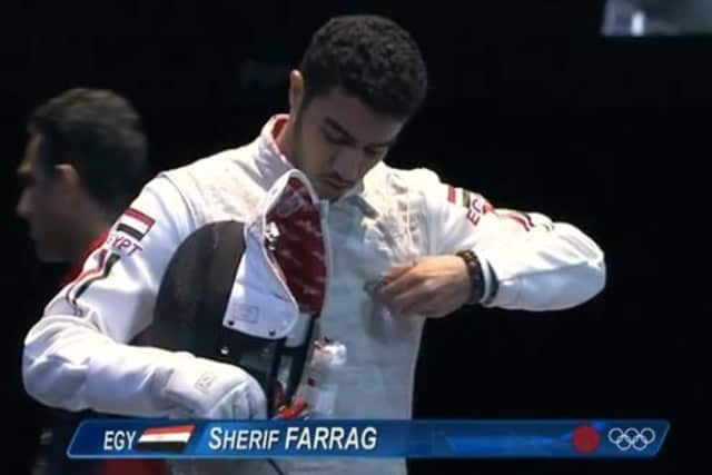 Sherif Farrag competes at the London Olympics. He has opened Farrag Fencing Team for kids 10-18 in Teaneck.