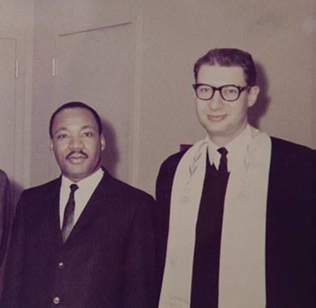 Wayne Rabbi Israel Dresner, at right, with Dr. Martin Luther King Jr.