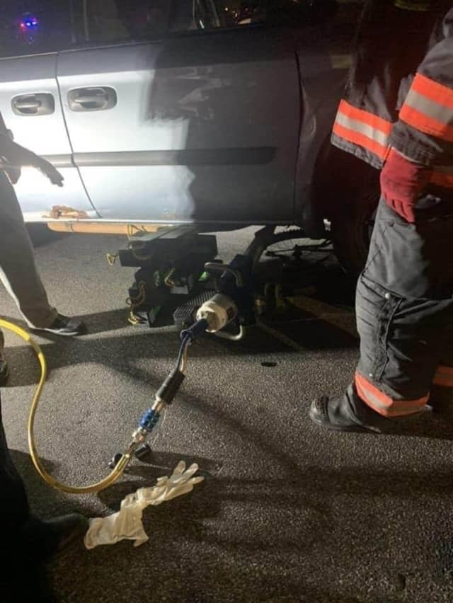 A 10-year-old girl was rescued by first responders in Westchester after being struck by a minivan.