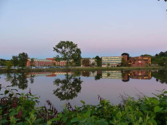 Fairleigh Dickinson University sits on the Hackensack River in Teaneck.