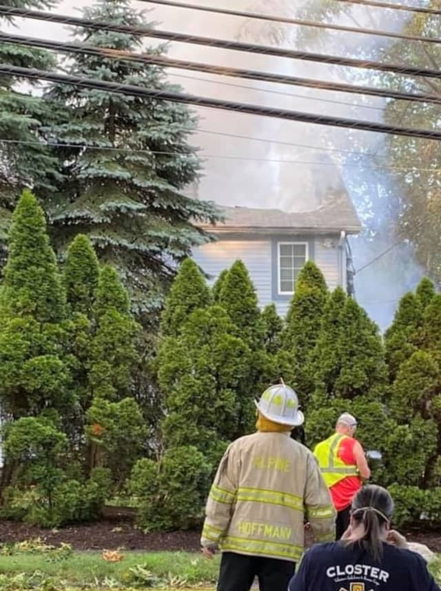 Flames ravaged the Closter home.