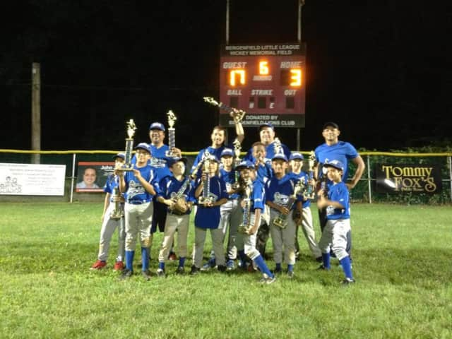 The Bergenfield Little League Minor Division League Champions.