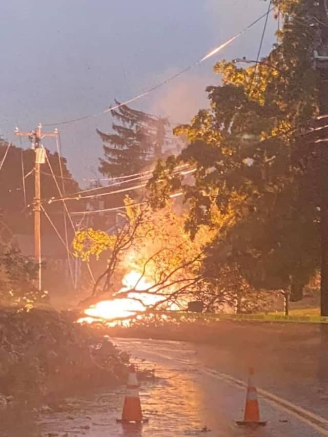Eversource crews worked through the night to repair hundreds of outages in Connecticut