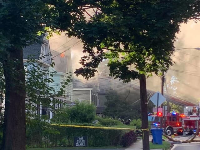 Heavy smoke conditions were reported when firefighters arrived to the house on the 220 block of Morris Avenue around 5:45 p.m.