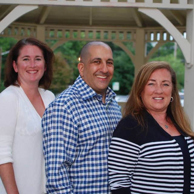 Oradell Mayor Elect Diane Didio, right, with new council members Tracy Schoenberg and Roger Tahijan.