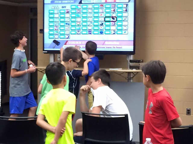 Gamers play at the Wyckoff Public Library.
