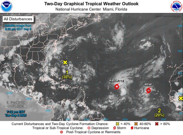 A look at Pauline and Renee churning in the Atlantic.