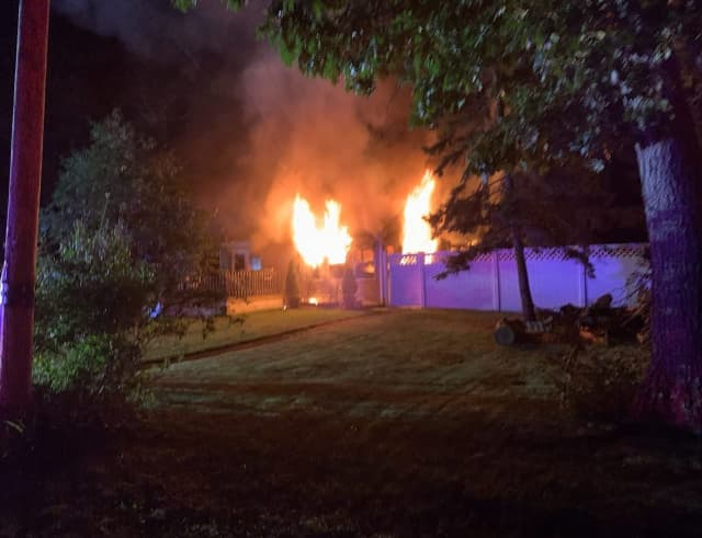 A 32-year-old man died when a fire broke out in Holtsville overnight.