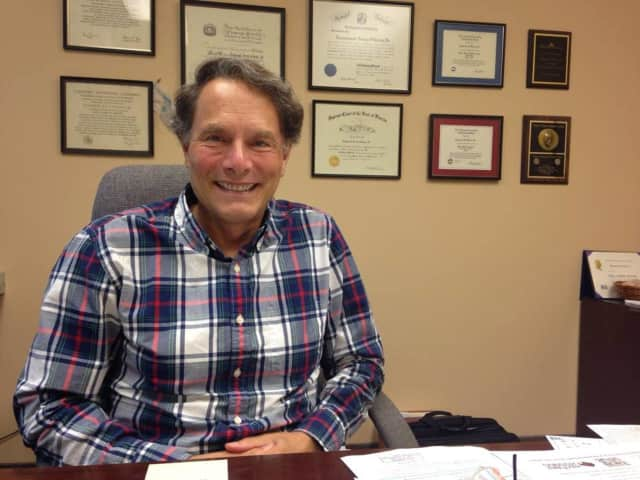 Ray Falcon, of River Vale, in his office at Falcon & Singer in Montvale.