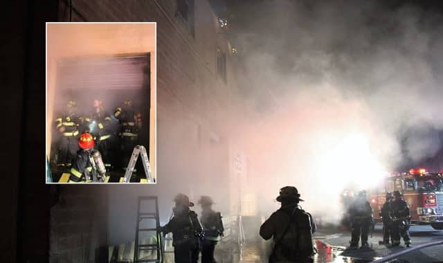 At the Del Glenn Avenue fire Sunday night.