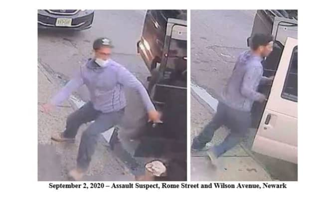 Authorities in Newark are seeking the public's help identifying this man wanted in connection with an apparent road rage incident, captured on surveillance tapes.