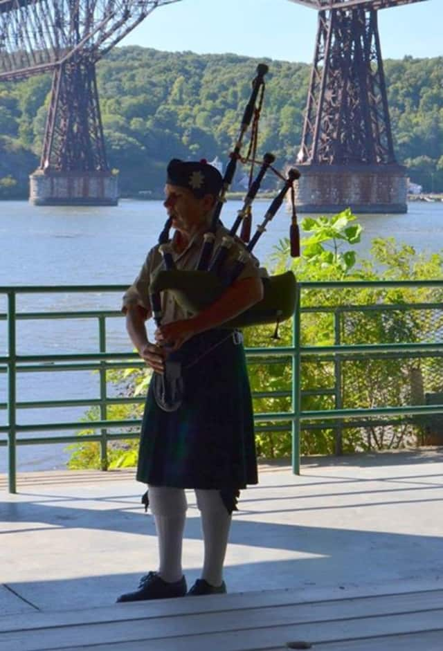A bagpiper plays during the annual Remembrance for Murder Victims ceremony held recently in Dutchess County.