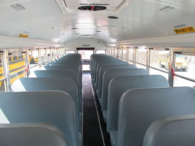 Students were bused back to Meadow Hill School in Newburgh after a bomb threat Monday morning.