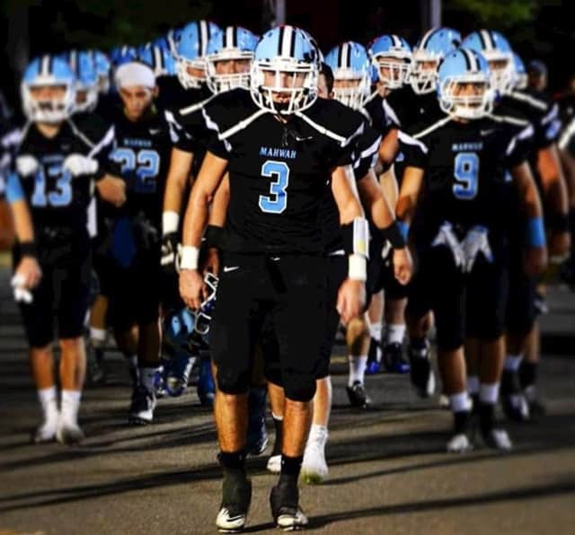Mahwah QB James Ciliento leads his team.