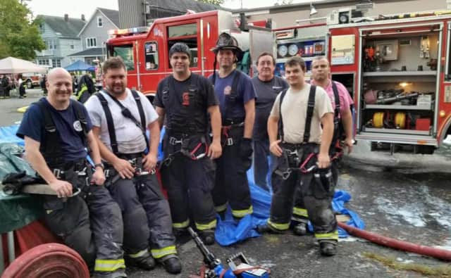 Franklin Lakes fire crew.
