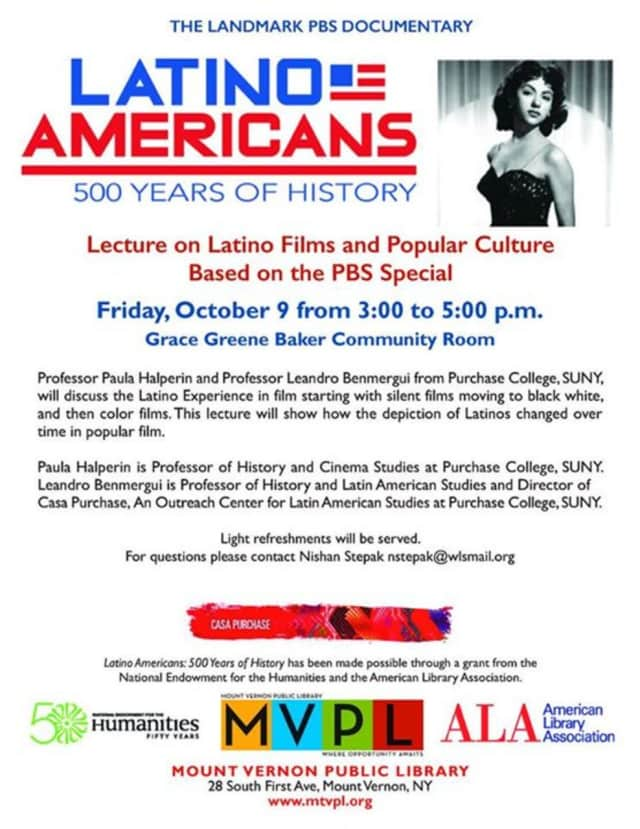 The Latino experience in film will be discussed at the lecture on Friday.