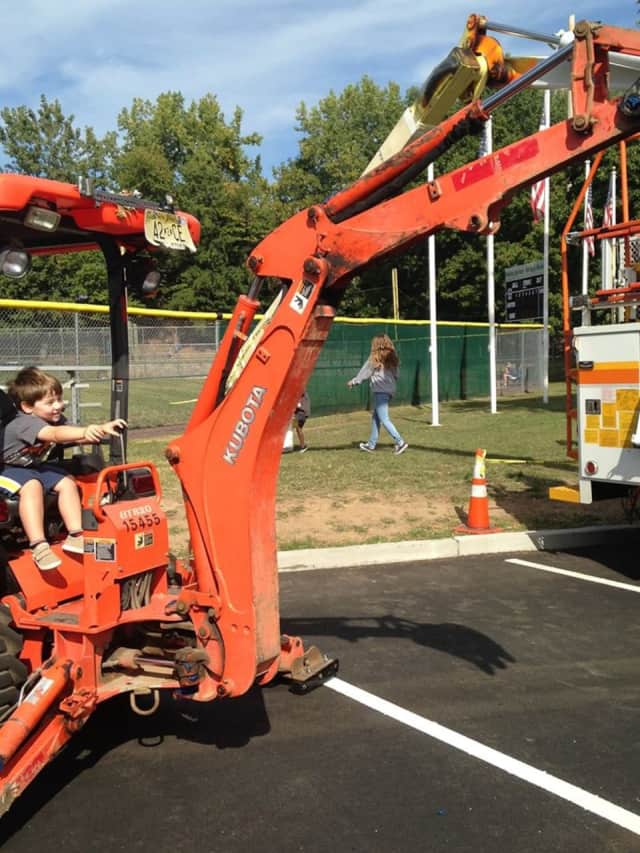 Kids can climb on all kinds of trucks at Rutherford's Touch A Truck event.