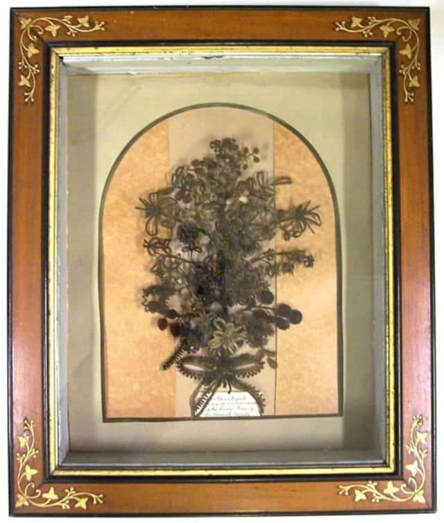 This Roosevelt Family Hairwork Bouquet is made entirely of hair taken from Roosevelt ancestors.