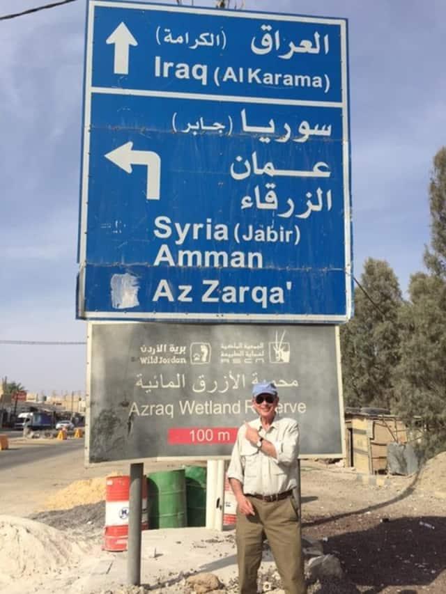 Ken Bernhard of Westport makes a recent visit to the Za'atari Refugee Camp in Jordan.