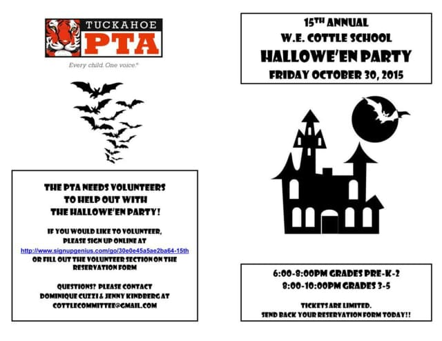 Celebrating Voices October 30th Your >> Tuckahoe Pta Seeks Volunteers For Halloween Celebration