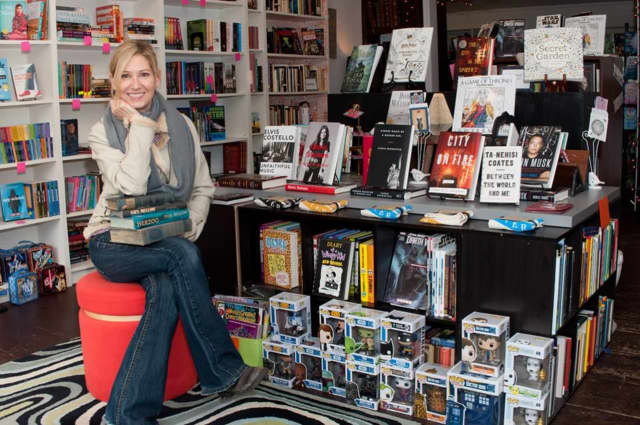 Susan Williamson, the owner of Booksy Galore in Pound Ridge.