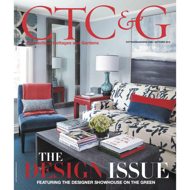 The October 2015 cover of CTC&G magazine, a publication of Cottages & Gardens Publications.