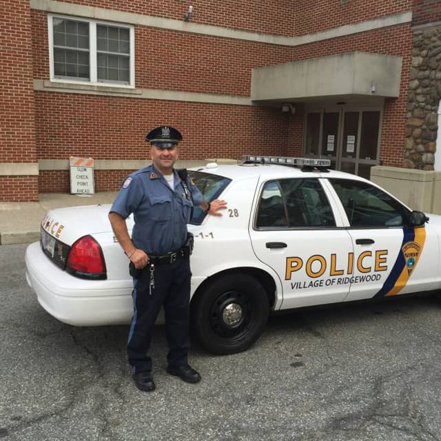 Ridgewood Patrolman Paul Dinice reported for his last tour of duty Tuesday.