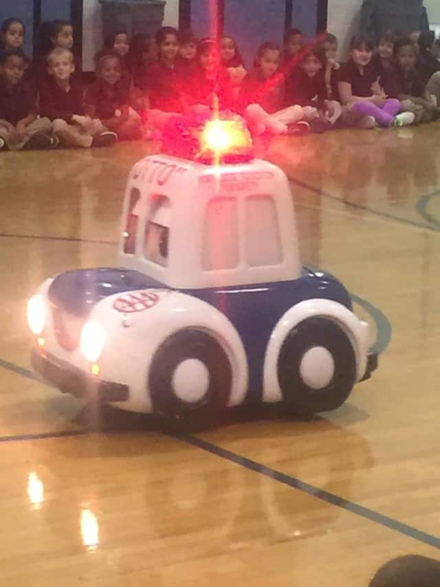 Otto the Auto spent time at Washington Elementary School in Lodi on Wednesday to teach students about pedestrian, bicyle and car safety.