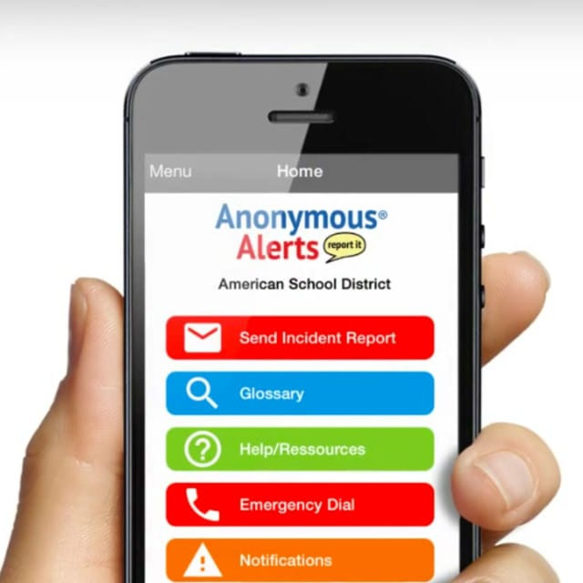 The Anonymous Alerts app to report bullying or other unsafe behavior anonymously is being made available to students in the Croton- Harmon School District.